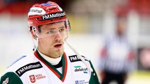 Kristoffer Gunnarssons Mora hade en tung kväll i Blekinge mot Karlskrona. Foto: Josefine Loftenius/Bildbyrån.
