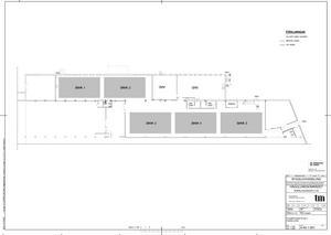 Fem banor inomhus planeras inom den nya anläggningen, Totalpadel, på Hägglundsområdet. Utöver detta räknar Stargym med att anlägga två banor utomhus. Skiss: TM