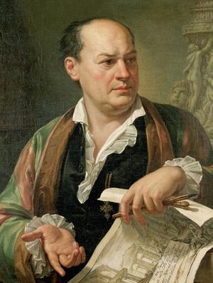 Giovanni Battista Piranesi. Postumt porträtt från 1779 av Pietro Labruzzi.