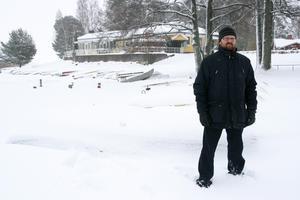 Vinterbilden 2013. Årets modell: Anders Edström. Medeltemperatur: -4,2. Nederbörd: 123,8. Foto: Kristian Bircanin.