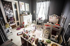 Det andra stora flickrummet tillhör Lisa Källström. Det rummet var från början ett kök.