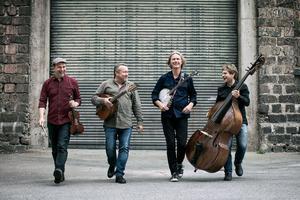 Det svenska bandet Quilty firar 25 år som band, och spelar irländsk folkmusik. Foto: Ryan Garrison/Pressbild