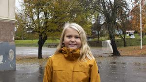 Lova Nordmark, 9 år, elev, Timrå.