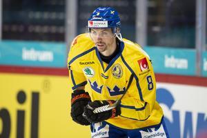 Anton Rödin spelar inte med Tre Kronor nästa vecka. Arkivbild: Bildbyrån