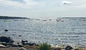 Från Trehörningen kunde också man se hur tävlingsbåtarna pilade mot Gårdsfjärden, där tävlingarna kördes i farleden.