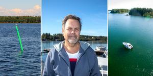 Anders Jonsson smällde i en sten så att båtmotorn blev förstörd när två sjömärken saknades i farleden utanför Axmar. Men trots att kommunen snabbt tog på sig ansvaret för att man missat att sätta ut prickarna så har han ännu inte fått en krona i ersättning.