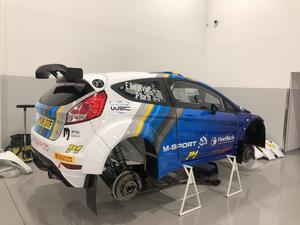 Nya bilen förbereds av Fordteamet nere i Krakow. FOTO: EMIL BERGKVIST