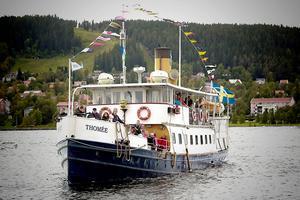 Ångaren Thomée på Storsjön. Arkivbild.