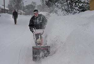 Det var många långa arbetspass med snöskottningen under vintern 2018.