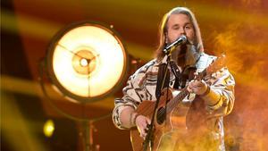 Chris Kläfford under Idol-finalen i Globen förra året.