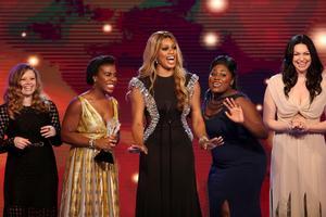 Foto: Paul A. Hebert/Invision/AP Natasha Lyonne, Uzo Aduba, Laverne Cox, Danielle Brooks och Laura Prepon från