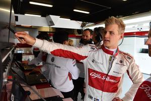 Ett boost för Marcus Ericsson, och för Sauber-teamet, som visade att den nya bilen är konkurrenskraftig.Bild: Sauber