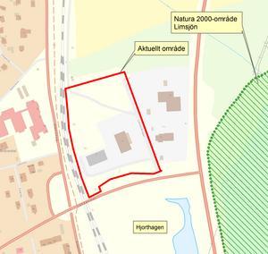 Området som kommunen får göra markarbeten på om de följer länsstyrelsens restriktioner. (Bild: Länsstyrelsen)