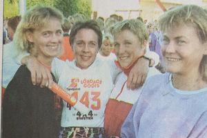 Segrare i damklassen på indalsledenloppet var Stockviks SF:s skidtjejer