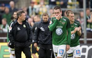 Jönköpings Södras mittfältare Daryl Smylie var missnöjd med förlusten men belåten med insatsen efter 0-1 mot Helsingborg. Bilden är en arkivbild.