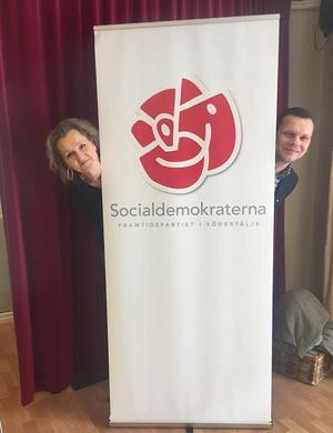Boel Godner och Christer Kronblad. Bilden ska ha tagits vid det hemliga möte då S skissade upp de första planerna på valkampanj.