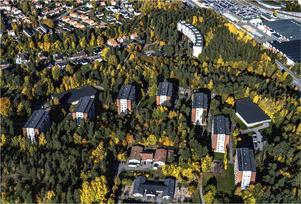 Flygfoto över Saltskog. Foto: Södertälje kommun