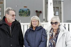 Per-Göran Ersson, Kerstin Kjellström, Elisabet Jansson  i hembygdsföreningen Barkarö sockengille har jobbat hårt för att bevara förskolan i gammal stil.