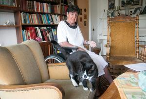 Katten Bamse är att fint sällskap, säger Solveig Berngrim.