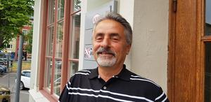 Adnan Can på ABF berättar om delegationens studiebesök på ABF i Södertälje.
