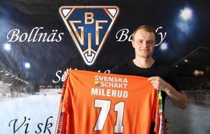 Kasper Milerud presenterades av Bollnäs i april.