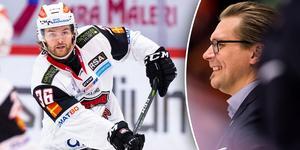 Anton Öhman hoppas att Björn Hellkvist ska få honom att utvecklas ytterligare. Bild: Bildbyrån/TT/Montage