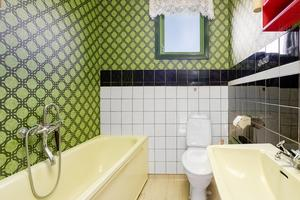 Ett av två badrum. Foto: Husfoto/Kim Lill