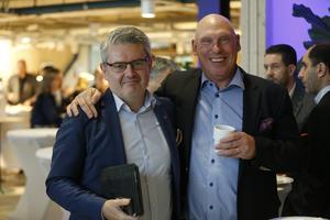 Håkan Buller (S), stadsbyggnadsnämndens ordförande och Lars-Åke Månsson, Månsbro fastigheter.