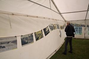 Ett historiskt bildspel visade kanalens 200 år långa historia inne i tältet på Vänortsparken.