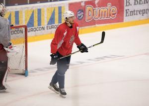 Ludwig Byström under en träning med Modo förra sommaren.
