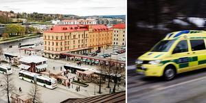 Två män fördes till sjukhus efter misstänka överdoser. Bilder: Therese Hasselryd och TT.