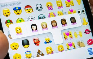 Oskyldiga emojisymboler. Makthavare ska däremot inte kategorisera oss utifrån hudfärg. Foto: Claudio Bresciani / TT