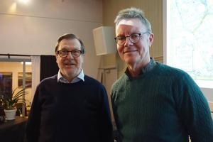 Olle Westling och Gunnar Ärnström från föreningen Finnskogsriket. Bild: Elise Hovanta