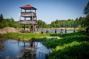 Utsiktstornet i Lina naturreservat  - ett av kommunens 24 naturreservat. Foto: Jonas Tetzlaff