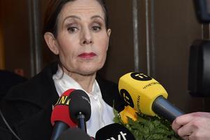 Svenska Akademiens tidigare ständiga sekreterare Sara Danius tillbakavisar uppgifterna om att hon återvänder till institutionen. Arkivbild. Foto: Jonas Ekströmer/TT