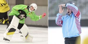 AIK:s stjärnmålvakt Andreas Bergwall och domare Jacob Liljegren kan ha samma färg på tröjorna från och med i dag. Foto: Martin Löf Nyqvist / Rikard Bäckman