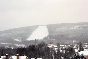 Snöoväder i Timrå, Skönviksbacken.