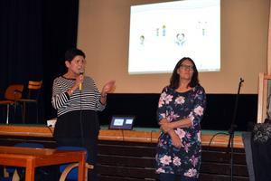 Helen Bylund och Anna-Lena Lundberg fick svara på många frågor.