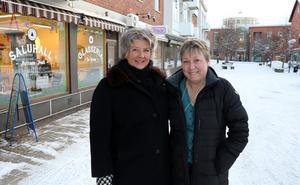 Tina Arvidson och Eva Magnusson gör gemensam sak och inleder ett nytt samarbete i syfte att blåsa liv i Ånge centrum.