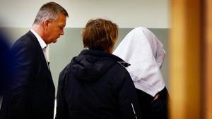Den misstänkte 54-åringen under häktningsförhandlingen i januari i år.