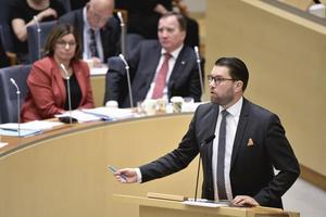 Jimmie Åkesson i Riksdagen.