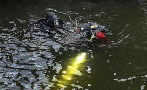 Foto: TTPolisens dykare har deltagit i sökinsatsen. Bilden är tagen vid ett annat tillfälle.
