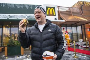 Lars Hammargren var med när Sveriges första McDonald's öppnade på Kungsgatan i Stockholm 1973 – liksom under invigningen i Bollnäs.
