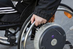 Leif fick en rullstol med sig hem. Mot sin vilja. Foto: Foto: Gorm Kallestad/TT