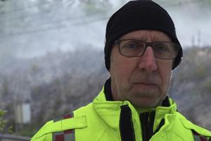 Leif Gäfvert, räddningsledare. Bilden är ett montage.
