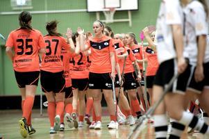 Sundsvalls IBF tog ledningen med 2–0 och firade det. Men sedan tog gästerna från Ångemanland över.