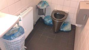 Soppåsar har börjat dumpas på Resecentrum.
