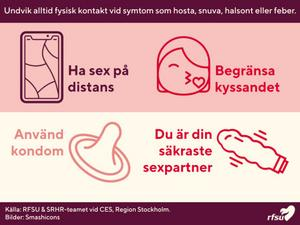 RFSU:s fyra tips för hur du har säkert sex i corona-tider.