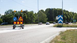 En tillfällig så kallad skyltvagn finns på plats för att göra bilisterna uppmärksamma på förändringen.