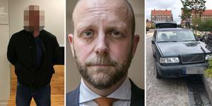 Henrik Olin, kammaråklagare. Fotomontage.